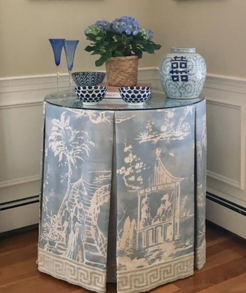 Scalamandre Custom Tailored Tablecloth