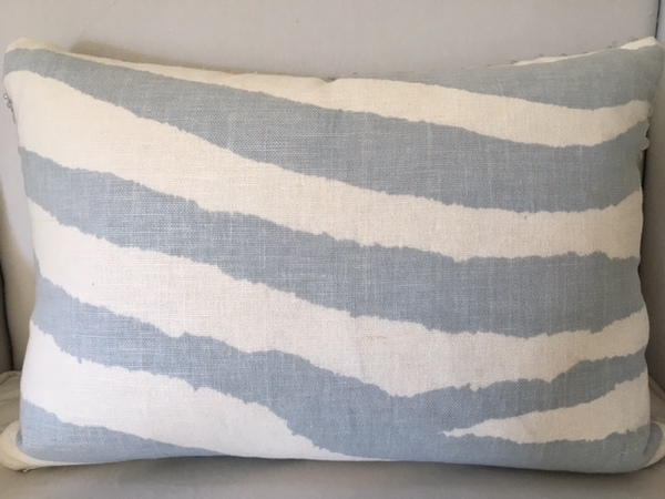 Zebra Blue-Grey Pillow