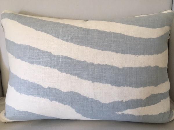Zebra Blue-Grey Pillow