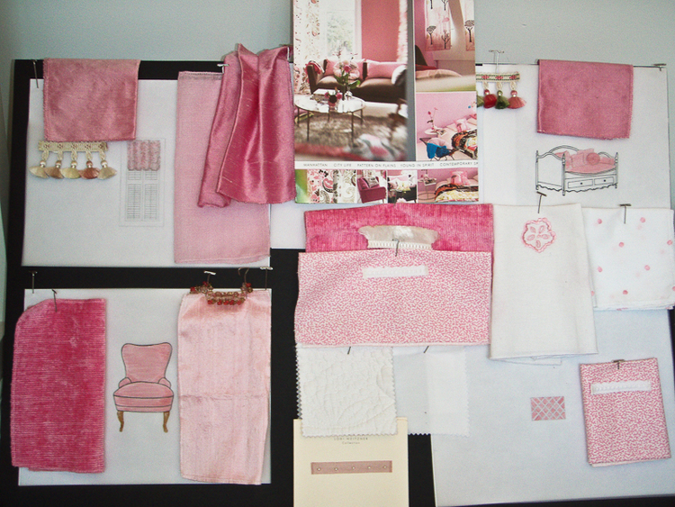 Design Box for a Child039s Room in Pink