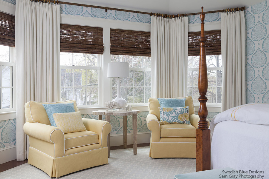 Master Bedroom - Window Treatments