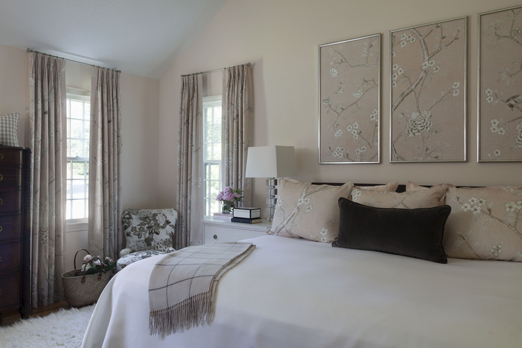 Master Bedroom in Blush and Gray
