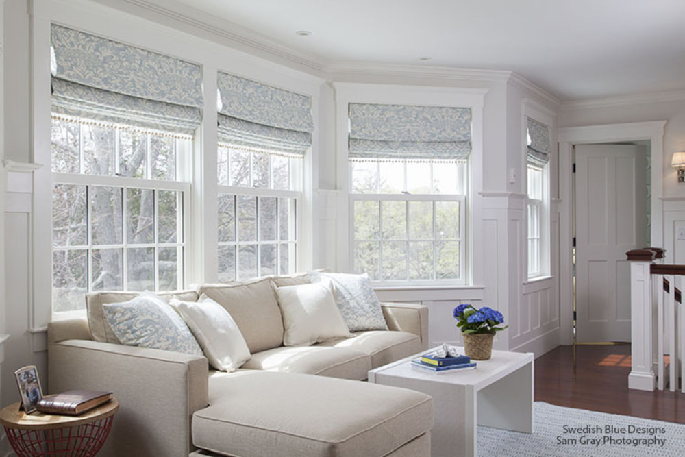Family Room - Roman Shades