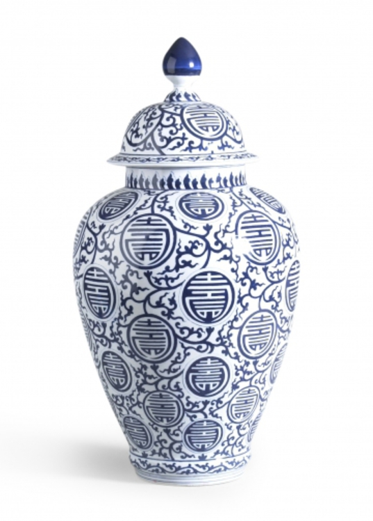 Blue Hand Painted Vase