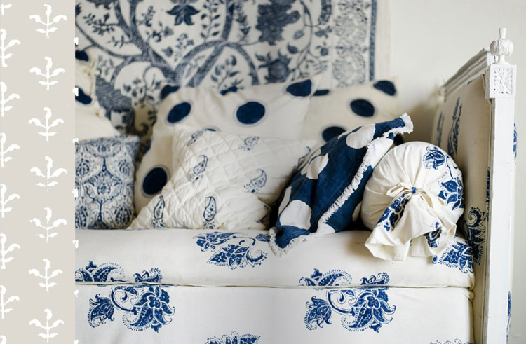 Les Indiennes Bedding Pillows and Fabrics