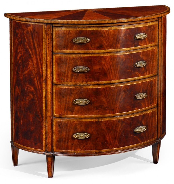 Mahogany Demilune Chest