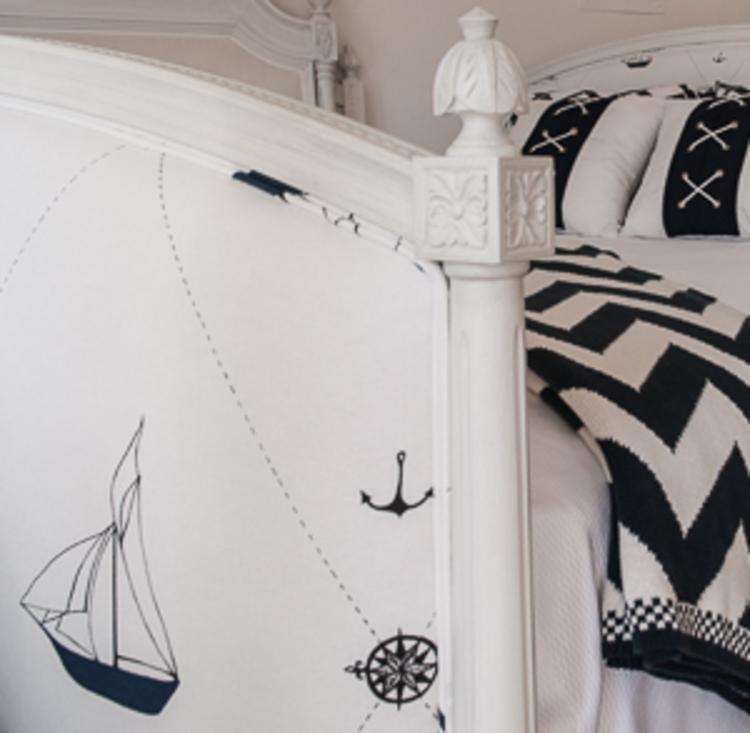 Swedish Bed Footboard Closeup