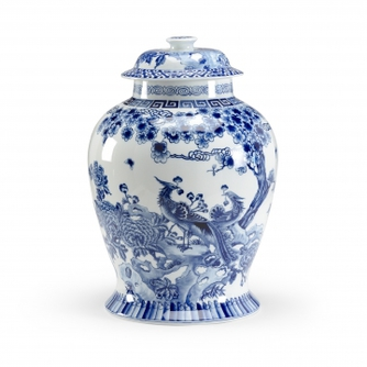 Blue Peacock Jar