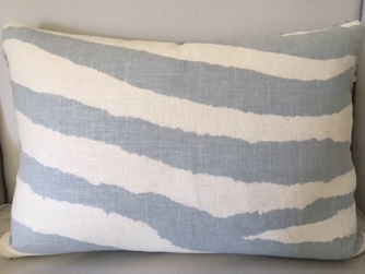 Zebra BlueGrey Pillow