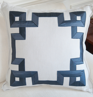 Geometric Fretwork Pillow